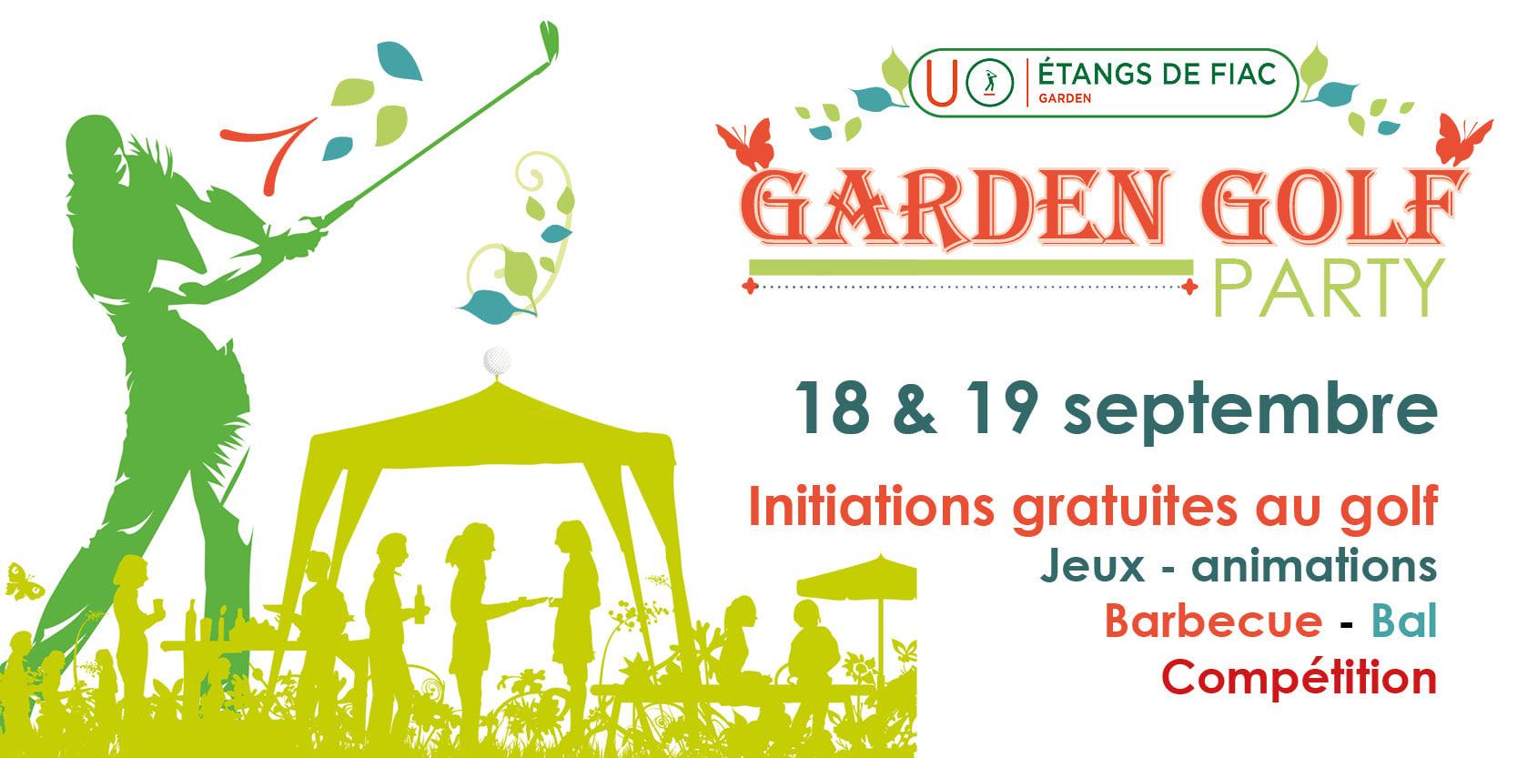 Garden golf party
